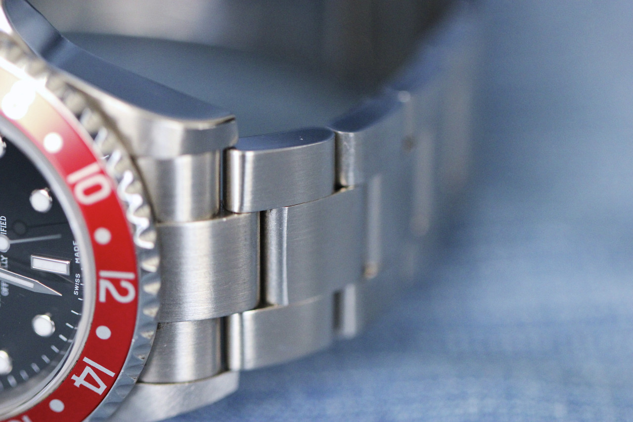 For sale used in mint condition Rolex GMT Master II Pepsi Blue Red 16170 mens swiss luxury watch