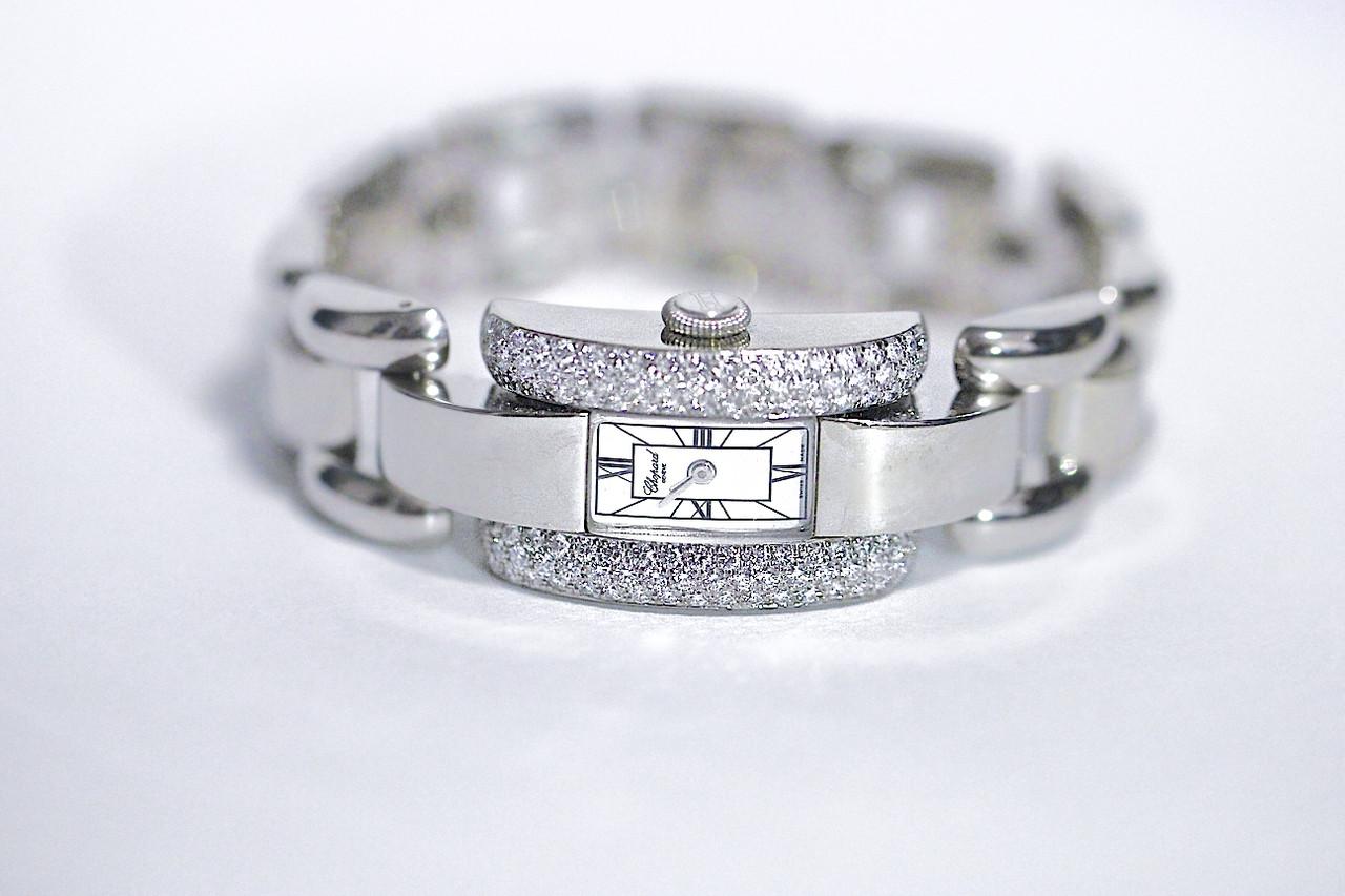 Chopard Watch - La Strada Diamond Bezel 18k White Gold Ladies - for sale luxury Swiss timepiece