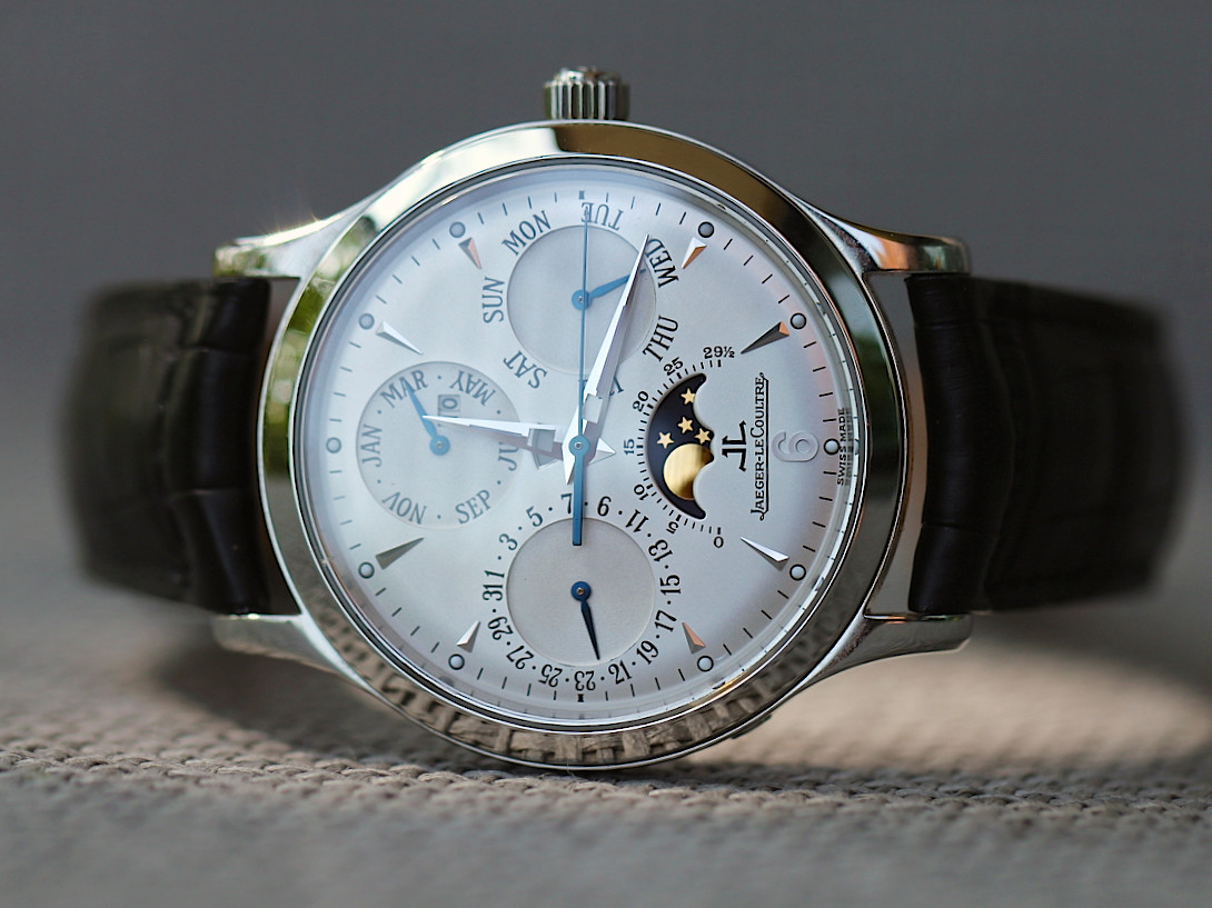 For sale Jaeger Le-Coultre Watch - Master Control Perpetual Calendar 140.8.80.S Pre-Owned Complete, available at Legend of Time - Chicago Watch Center.
