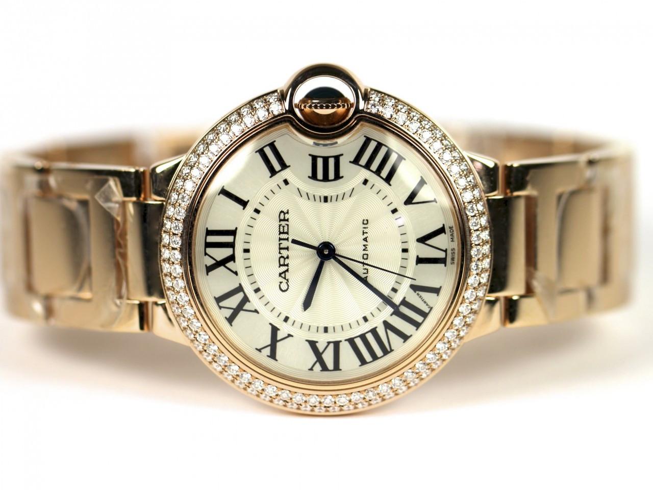 Cartier Watches Ballon Bleu 18 K Pink Gold Swiss Watch Ref ...
