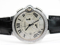Cartier Watch - Ballon Bleu Chronograph White Gold with Diamonds XL WE902002 - www.Legendoftime.com Chicago Watch Center