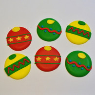 Royal Icing Christmas Ornaments (25 per box)