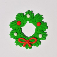 Royal Icing Christmas Wreaths (25 per box)