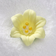"1.5"" Royal Icing Easter Lily-Yellow (10 per box)"