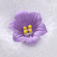 "1.5"" Royal Icing Easter Lily-Lavender (10 per box)"