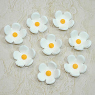 "1"" Blossoms - Small - White (25 per box)"