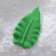 "1-1/2"" Royal Icing Rose Leaves - Large - Green (quanity 20)"