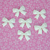 "Bows- 1.5"" - White (6 per box)"
