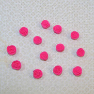 ".5"" Mini Classic Royal Icing Rose -  Hot Pink (10 per box)"