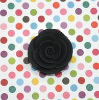 "1"" Small Classic Royal Icing Rose - Black (10 per box)"