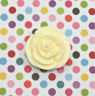 "1"" Small Classic Royal Icing Rose - Ivory (10 per box)"