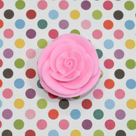 "1"" Small Classic Royal Icing Rose - Pastel Pink (10 per box)"