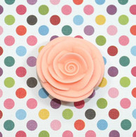 "1"" Small Classic Royal Icing Rose -  Peach (10 per box)"