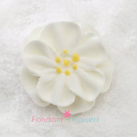 "1"" Royal Icing Dainty Bess Rose - Small - White (quanity 20)"