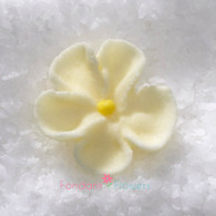 """1/2"""" Royal Icing Forget-Me-Not - Petite - Ivory (quanity 20)"""