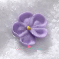 """1/2"""" Royal Icing Forget-Me-Not - Petite - Lavender (quanity 20)"""