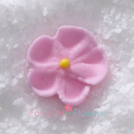 """1/2"""" Royal Icing Forget-Me-Not - Petite - Pink (20 per box)"""
