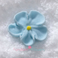 """1/2"""" Royal Icing Forget-Me-Not - Petite - Pastel (quanity 20)"""