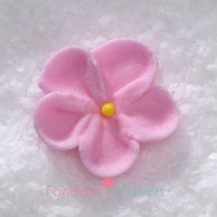 """7/8"""" Royal Icing Forget-Me-Not - Small - Pink (quanity 20)"""