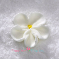 """7/8"""" Royal Icing Forget-Me-Not - Small - White (quanity 20)"""