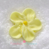 """7/8"""" Royal Icing Forget-Me-Not - Small - Yellow (quanity 20)"""
