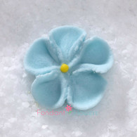 """7/8"""" Royal Icing Forget-Me-Not - Small - Pastel Blue (quanity 20)"""