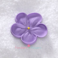 """1-1/2"""" Royal Icing Forget-Me-Not - Medium - Lavender (quanity 20)"""