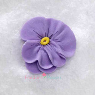 "1"" Royal Icing Pansy - Medium - Lavender (quanity 20)"