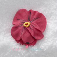 "1"" Royal Icing Pansy - Medium - Red (quanity 20)"