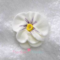 "1"" Royal Icing Pansy - Medium - White (quanity 20)"