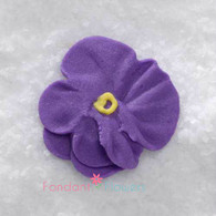 "1"" Royal Icing Pansy - Medium - Purple (quanity 20)"