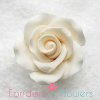"1-1/8"" Rose w/ Calyx - Petite - Ivory (Sold Individually)"