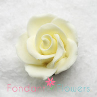 "1-1/8"" Rose w/ Calyx - Petite - Yellow (Sold Individually)"