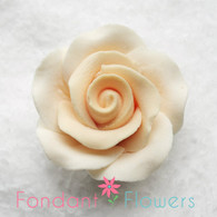 "1-1/8"" Rose w/ Calyx - Petite - Cream (Sold Individually)"