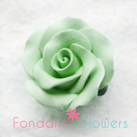 "1-1/8 "" Rose w/calyx -  Petite -  Mint Green (Sold Individually)"