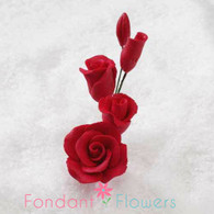 "2-1/2"" Rose Filler - Mini - Red (Sold Individually)"