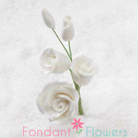 "2-1/2"" Rose Filler - Mini - White (Sold Individually)"