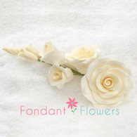"""5"""" Rose Filler - Large - Ivory (Sold Individually)"""