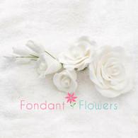 "5"" Rose Filler - Large - White (Sold Individually)"