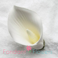 "2-1/8"" Calla Lily w/o Wire - Medium - White (Sold Individually)"