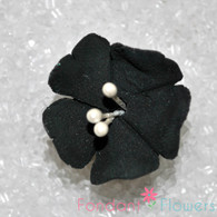 "1.25"" Fruit Blossom - Black (10 per box)"