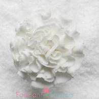 "1.5"" Carnation - Medium - White (Sold Individually)"