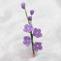 "2.5"" Forget-Me-Not Blossom Filler - Purple"