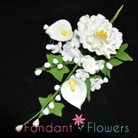 """6.5"""" Peony, Calla Lily and Apple Blossom Filler"""
