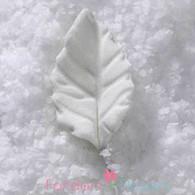 """3/4"""" Rose Leaves - Mini - White w/ Wire (10 per box)"""