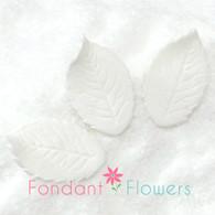 "1.75"" Rose Leaves - Medium - White (10 per box)"