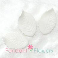 "1.25"" Rose Leaves - Small - White w/ Wire (10 per box)"
