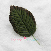 "1.25"" Rose Leaves - Small - Green w/ Wire (10 per box)"