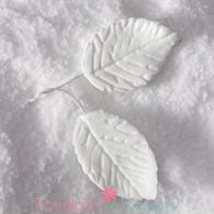 "1.75"" Rose Leaves - Medium - White w/ Wire (10 per box)"