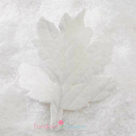 "2"" Maple Leaves - Medium - White w/ Wire (10 per box)"
